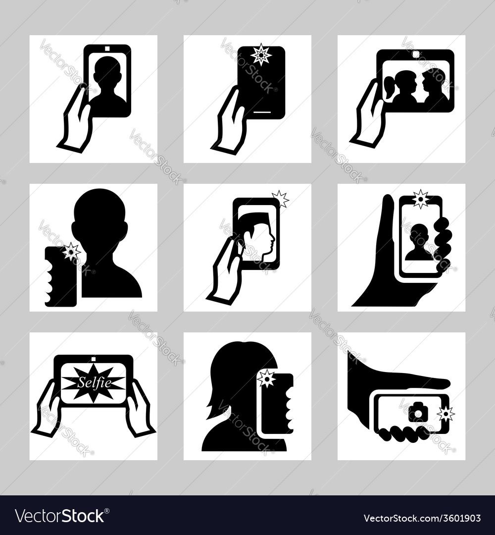 Selfie 2 vector | Price: 1 Credit (USD $1)