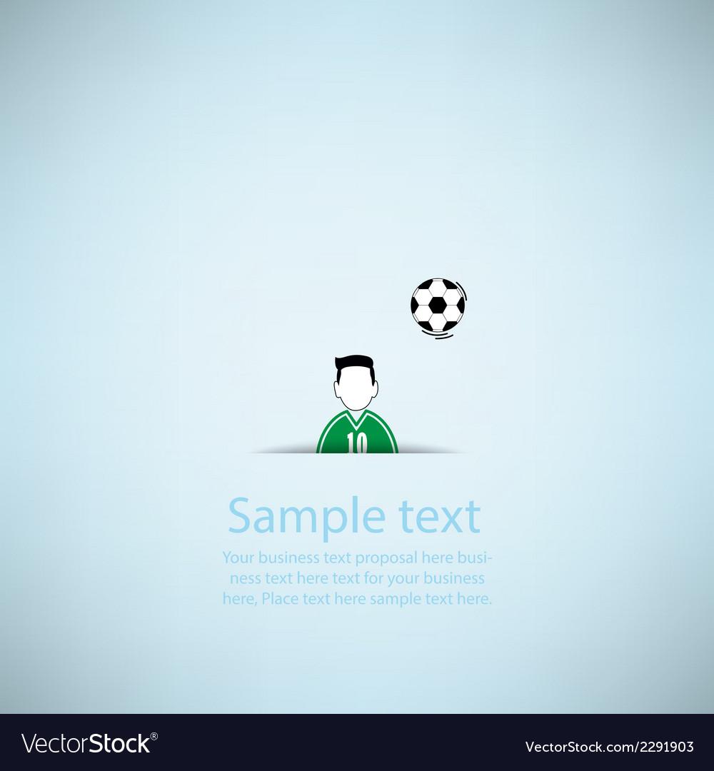 Soccer ball poster soccer ball banner design vector | Price: 1 Credit (USD $1)