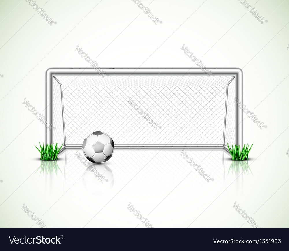 Soccer goal and ball vector | Price: 3 Credit (USD $3)