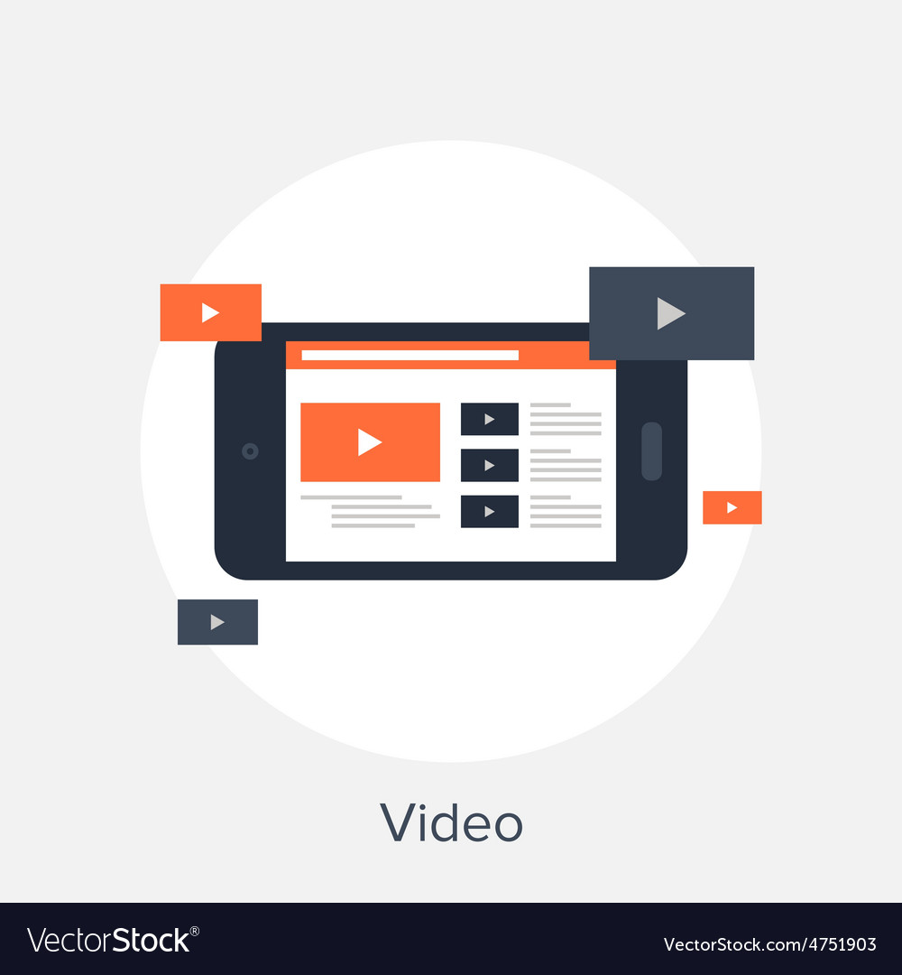 Video icon vector   Price: 1 Credit (USD $1)