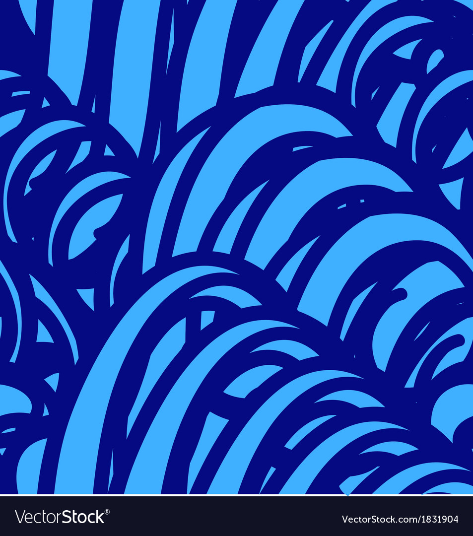 Background with abstract blue waves seamless vector | Price: 1 Credit (USD $1)