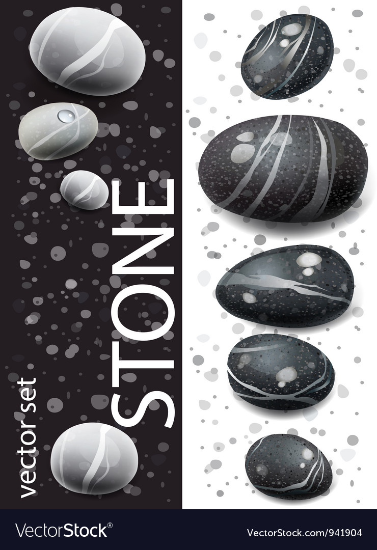 Black and white stones vector | Price: 3 Credit (USD $3)