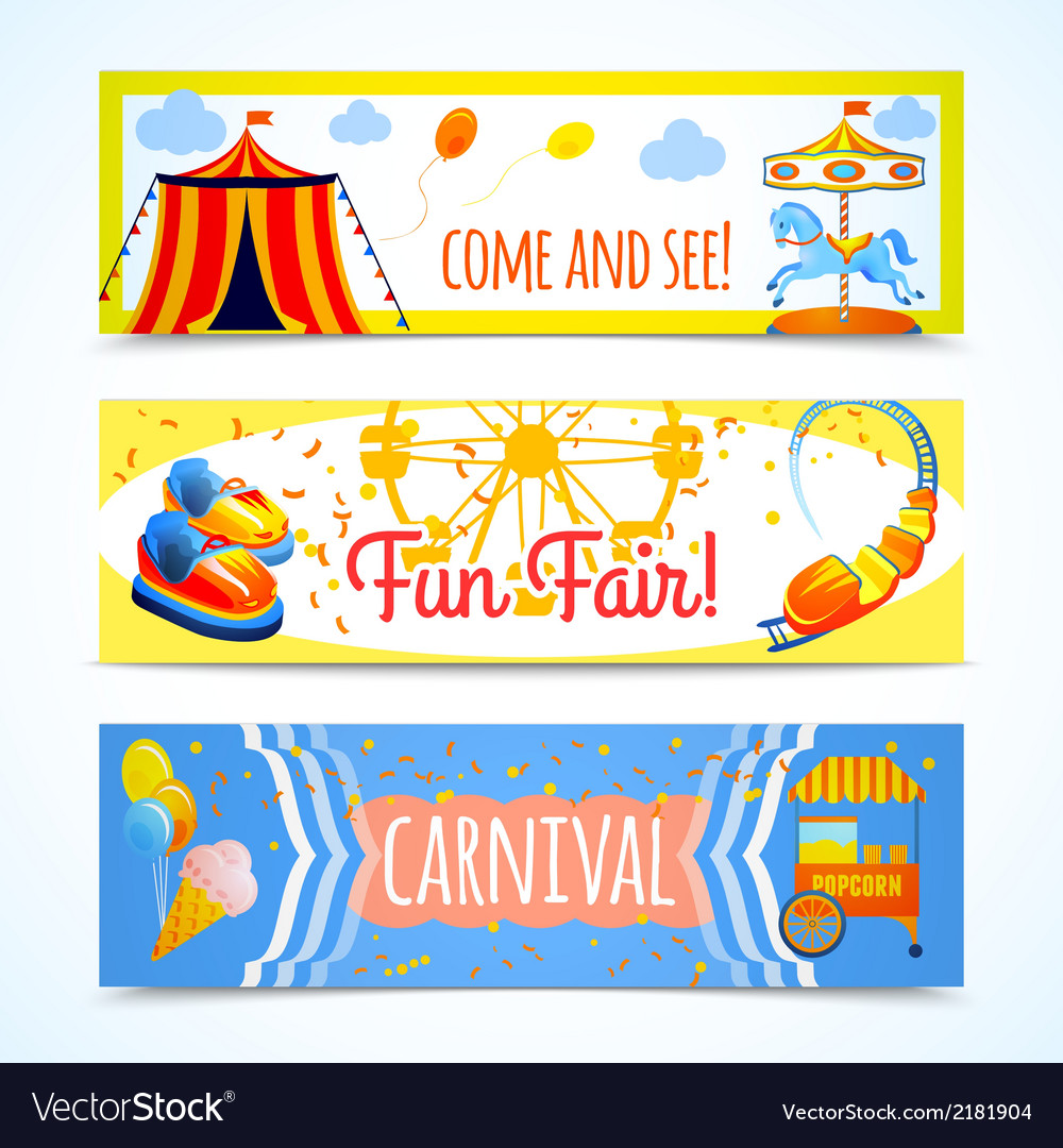 Carnival banners horizontal vector | Price: 1 Credit (USD $1)