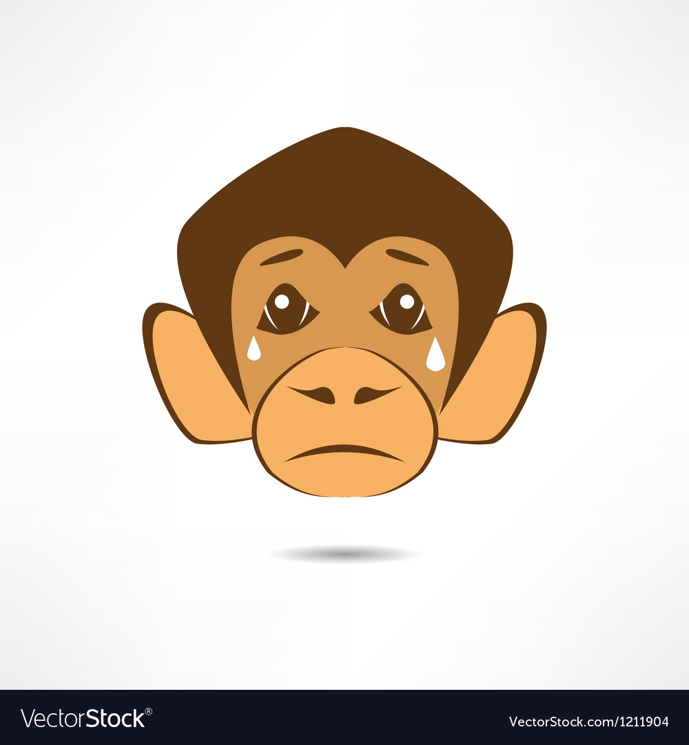Crying monkey vector | Price: 1 Credit (USD $1)