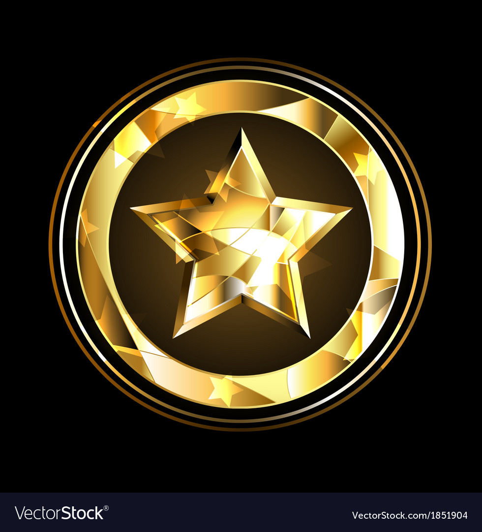 Gold star foil vector | Price: 1 Credit (USD $1)
