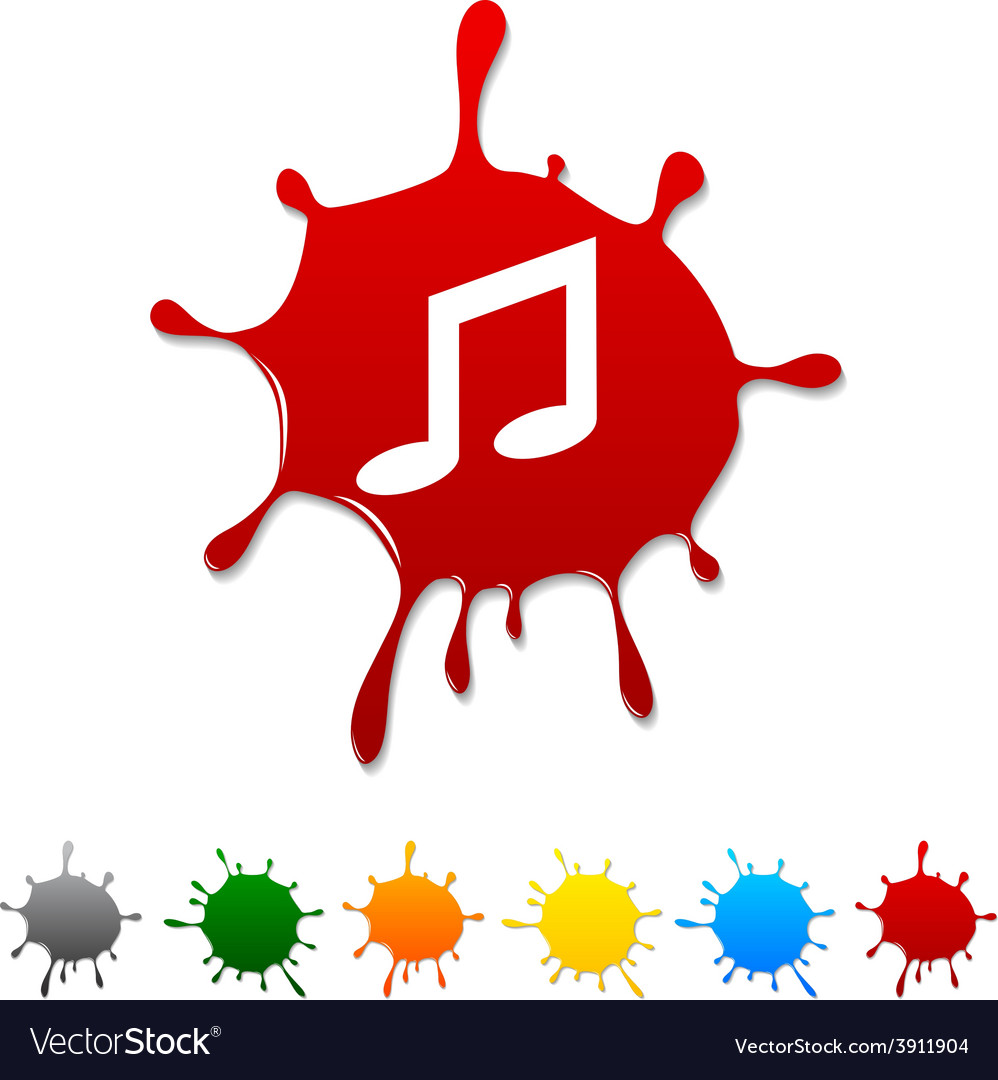 Music blot vector | Price: 1 Credit (USD $1)