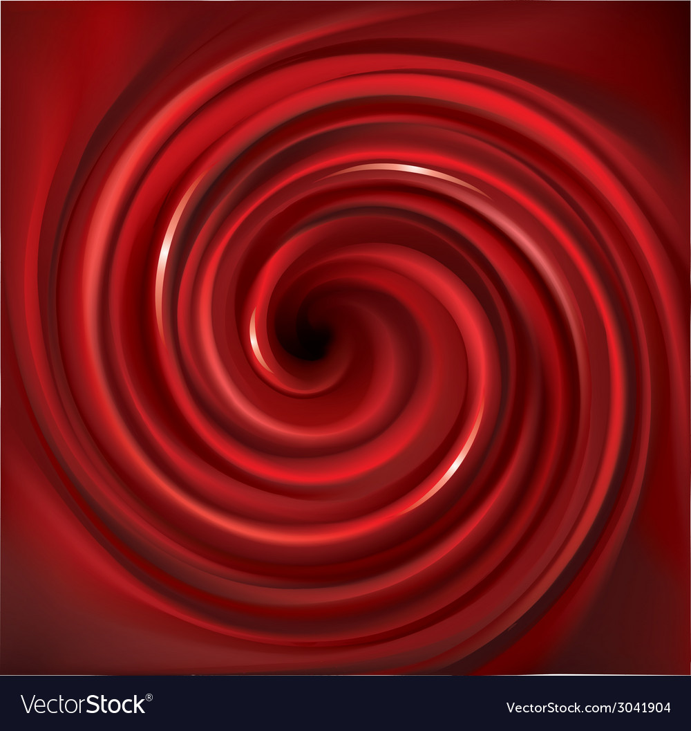 Spiral liquid surface red color vector | Price: 1 Credit (USD $1)