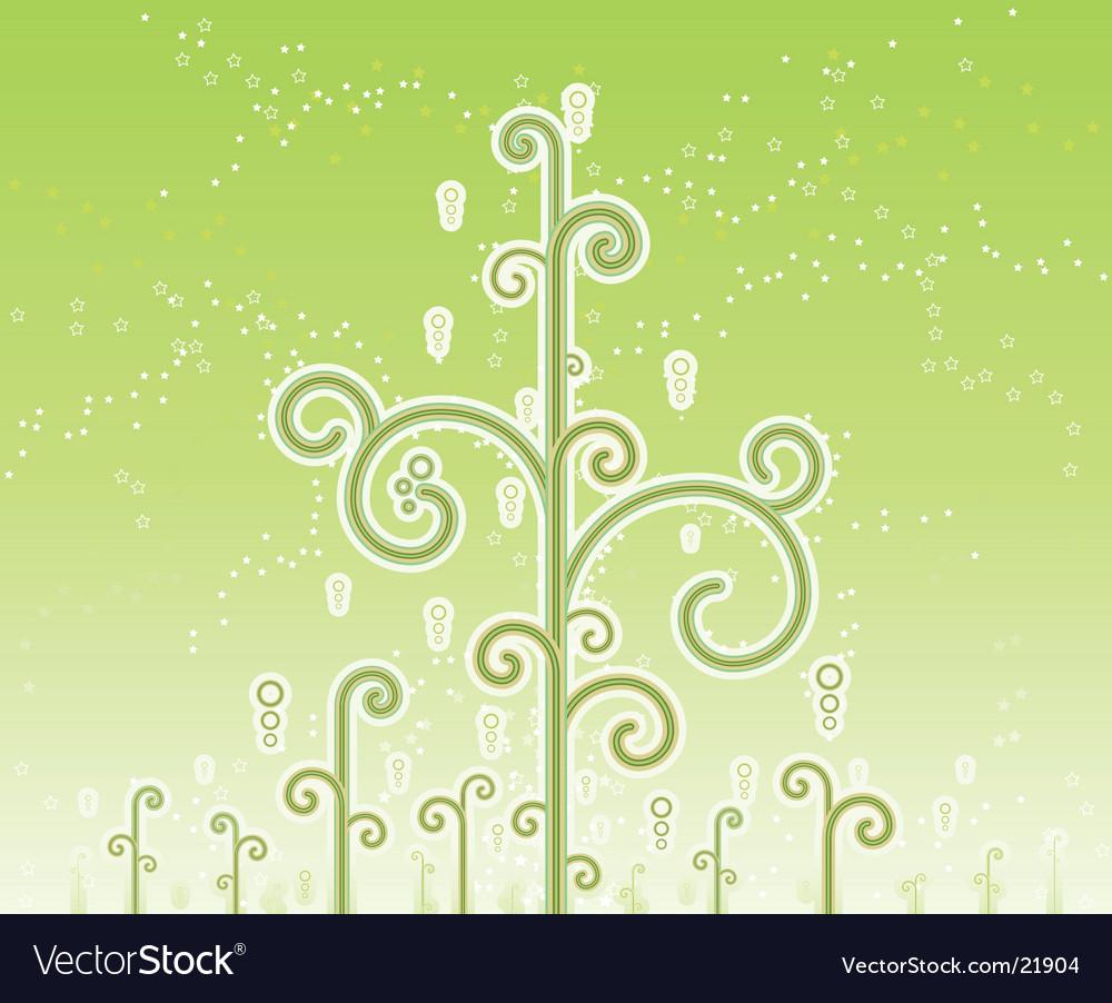 Swirly magic trees background vector   Price: 1 Credit (USD $1)