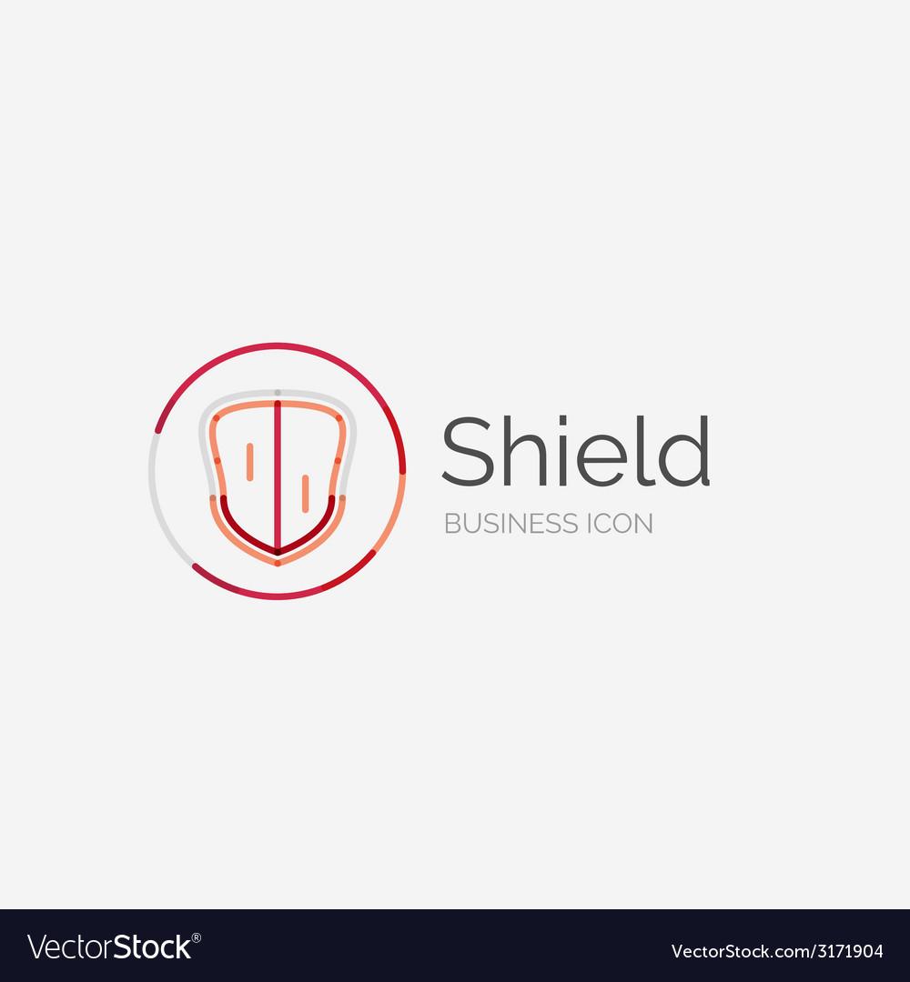 Thin line neat design logo shield icon vector   Price: 1 Credit (USD $1)