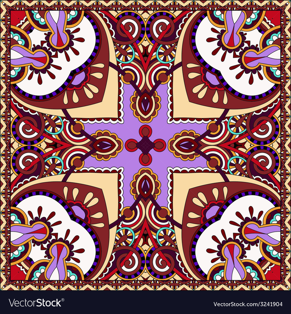 Traditional ornamental floral paisley violet vector | Price: 1 Credit (USD $1)