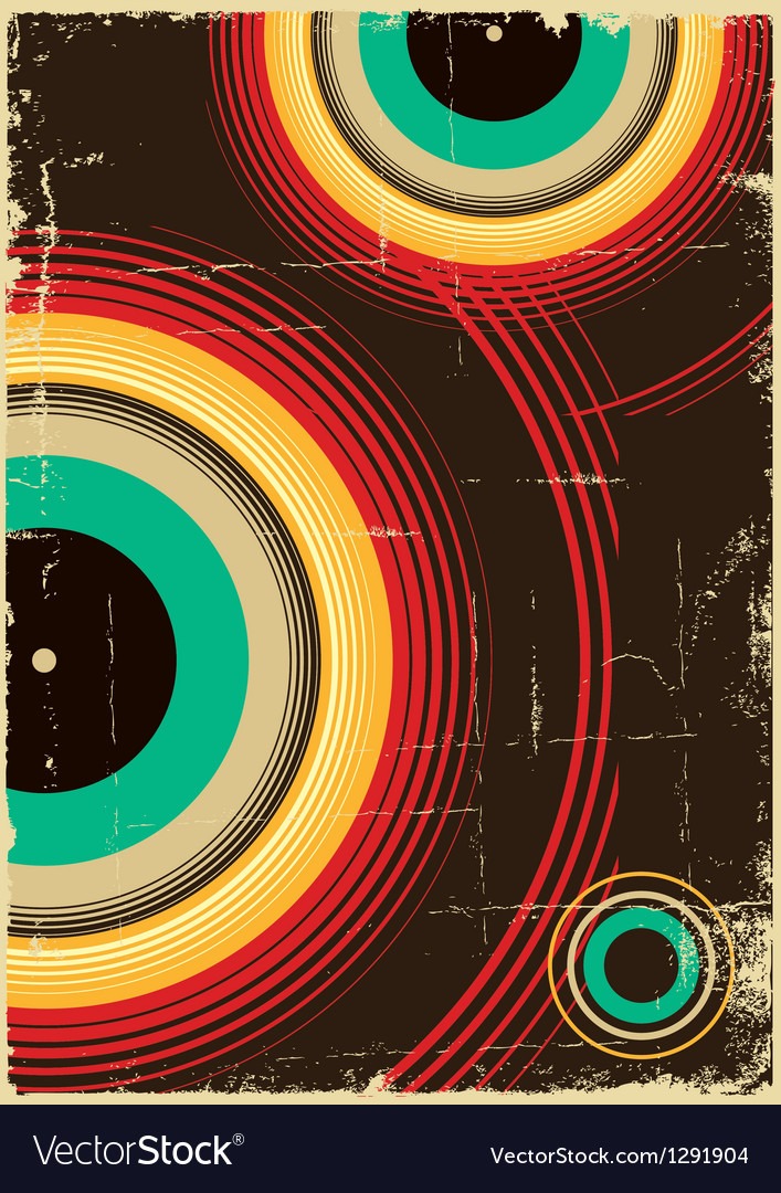 Vintage poster retro background on old paper vector | Price: 1 Credit (USD $1)