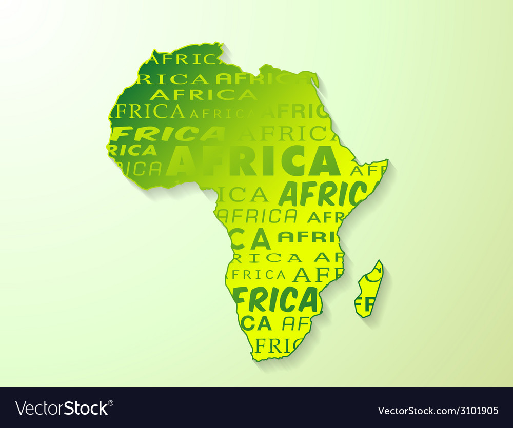 Africa country map presentation vector | Price: 1 Credit (USD $1)