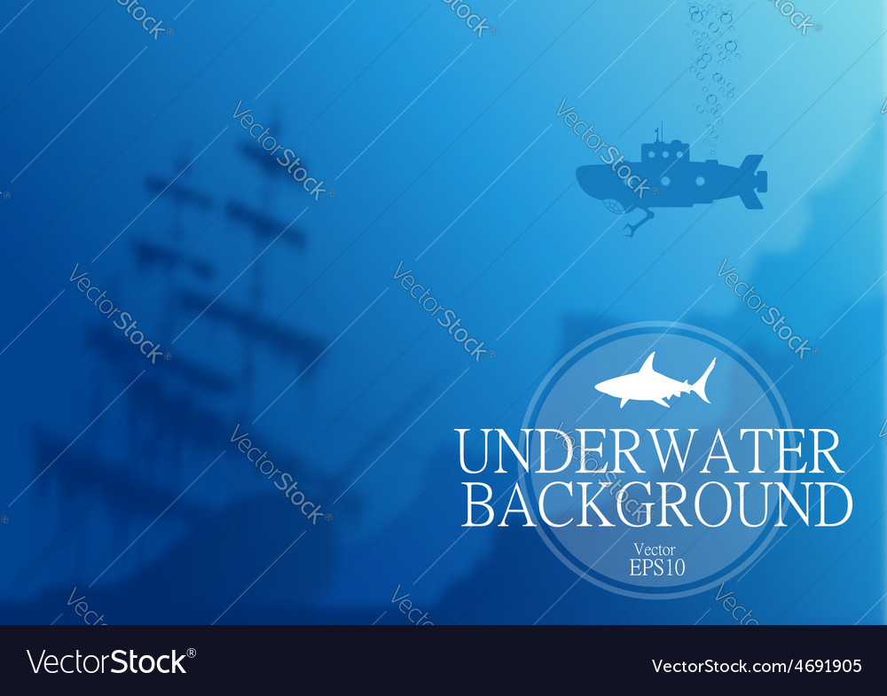 Blurred underwater background vector | Price: 1 Credit (USD $1)