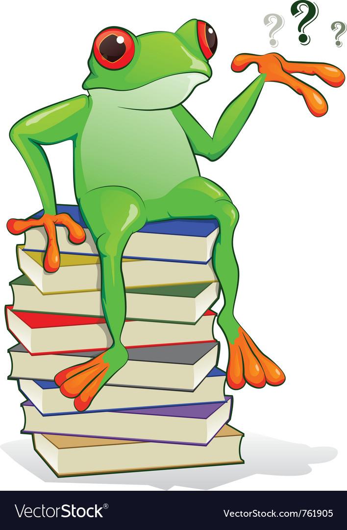Book frog vector   Price: 3 Credit (USD $3)