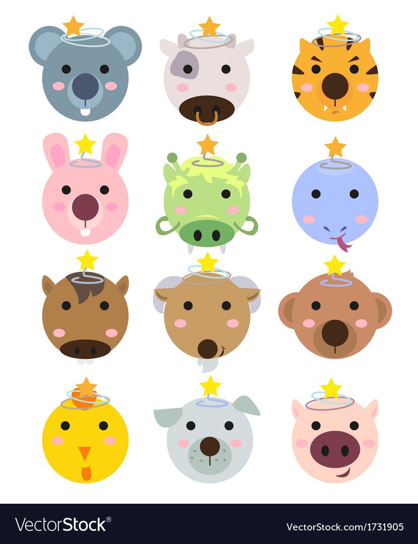 Chinese zodiac 2 vector | Price: 1 Credit (USD $1)