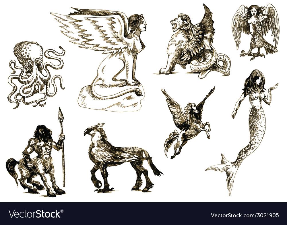 Creatures vector | Price: 1 Credit (USD $1)