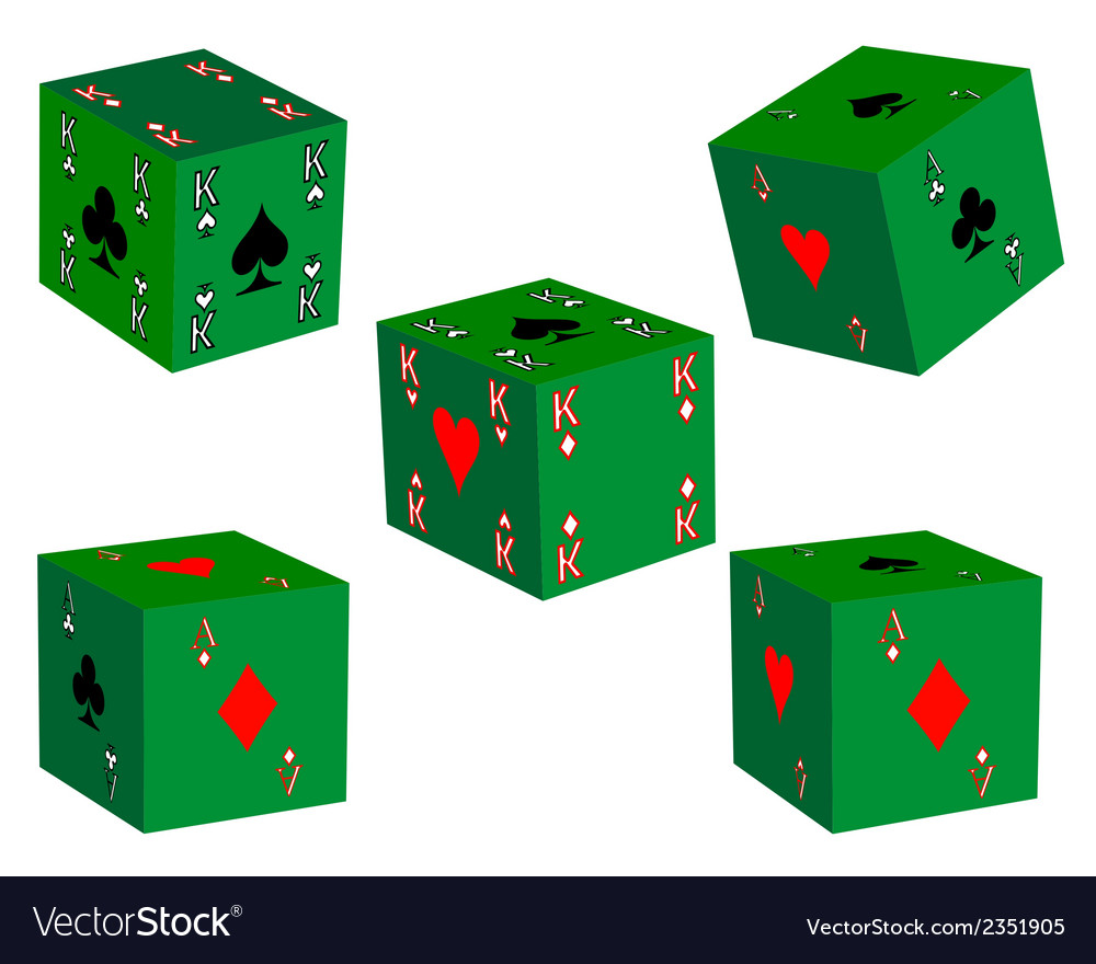 Five dice vector | Price: 1 Credit (USD $1)