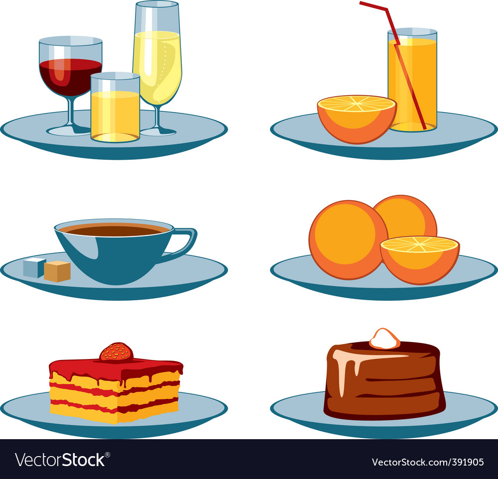 Food icons drinks and sweets vector | Price: 1 Credit (USD $1)