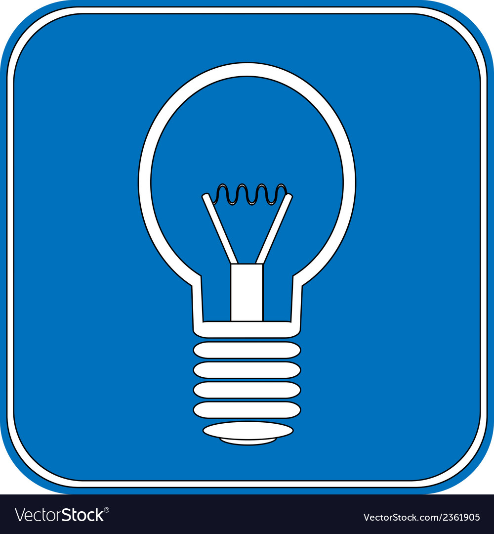 Light bulb button vector | Price: 1 Credit (USD $1)