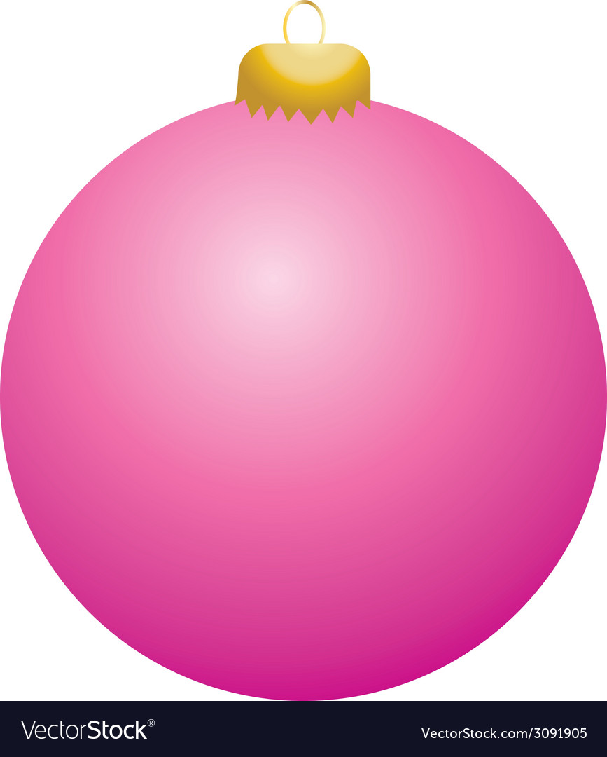Pink ball ornament vector | Price: 1 Credit (USD $1)