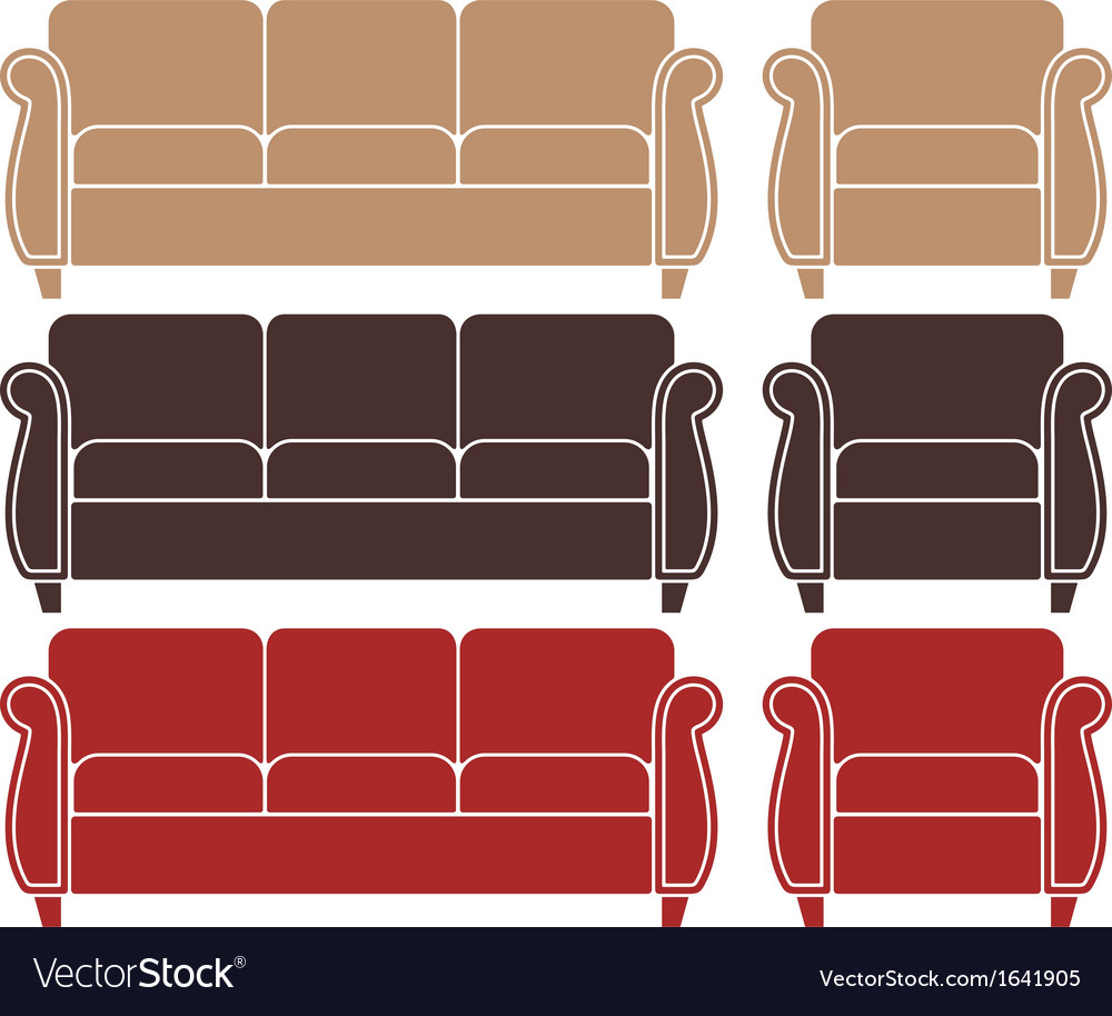 Sofa armchair vector | Price: 1 Credit (USD $1)