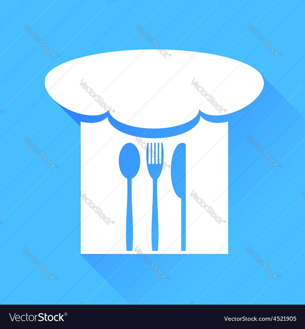 Spoon fork knife and chef hat vector | Price: 1 Credit (USD $1)