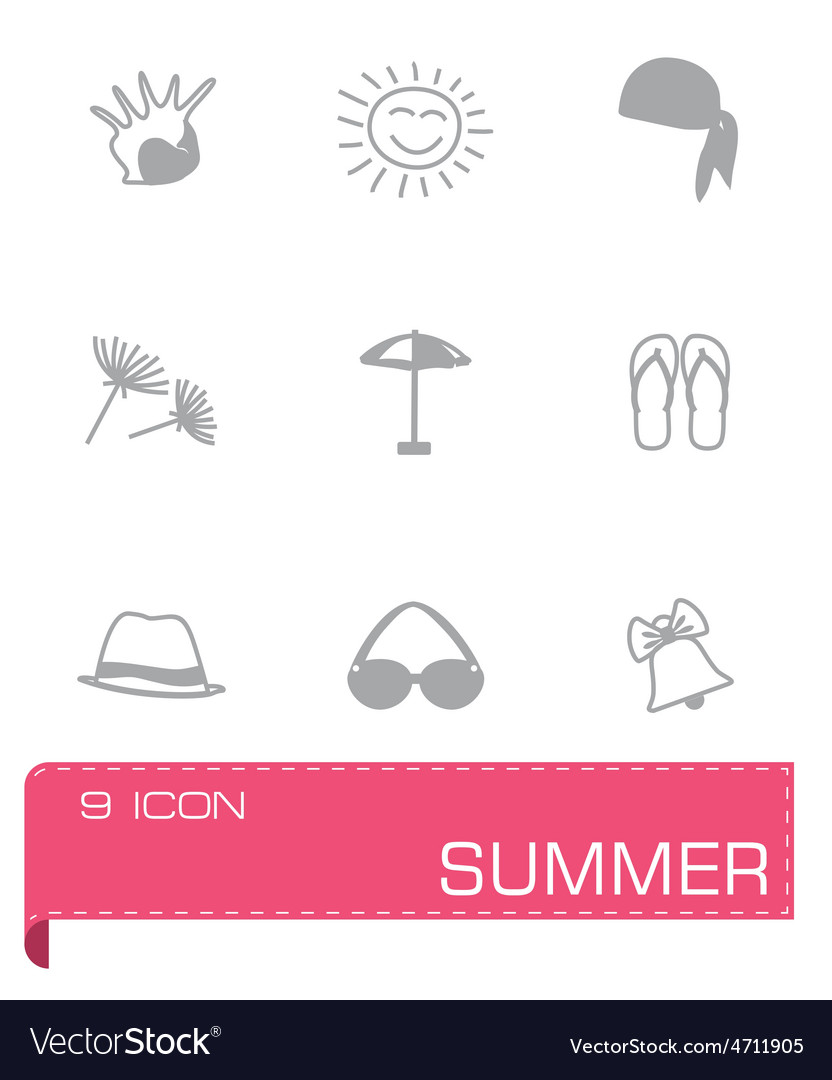 Summer icon set vector   Price: 1 Credit (USD $1)