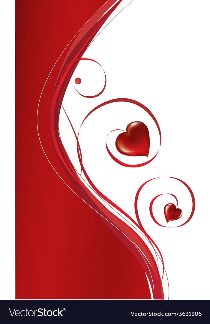 Background of red hearts vector | Price: 1 Credit (USD $1)