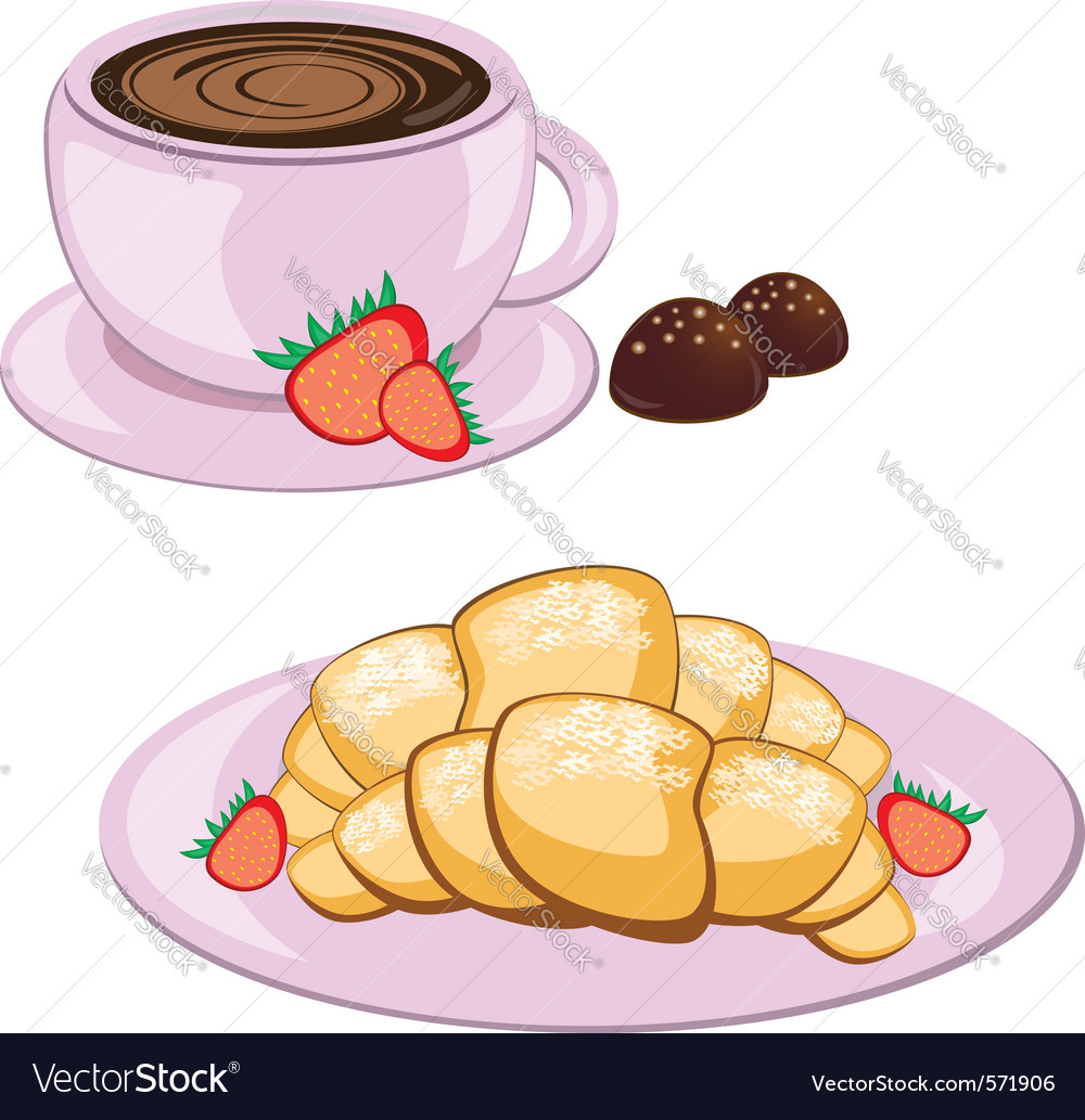 Breakfast and coffee vector | Price: 1 Credit (USD $1)