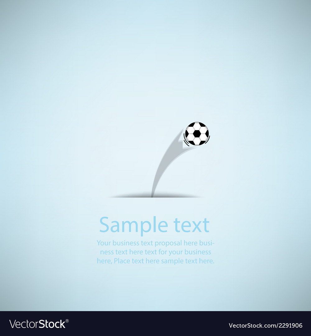 Creative soccer design vector | Price: 1 Credit (USD $1)