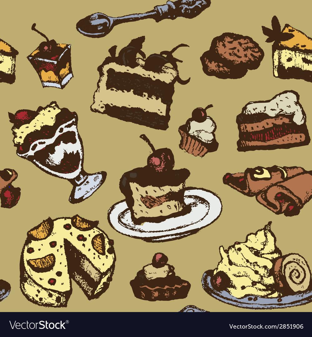 Dessert background vector | Price: 1 Credit (USD $1)