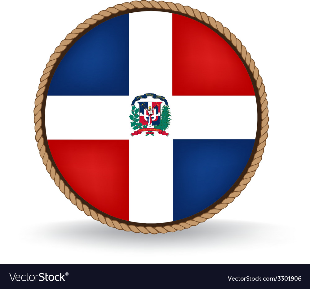 Dominican republic seal vector | Price: 1 Credit (USD $1)