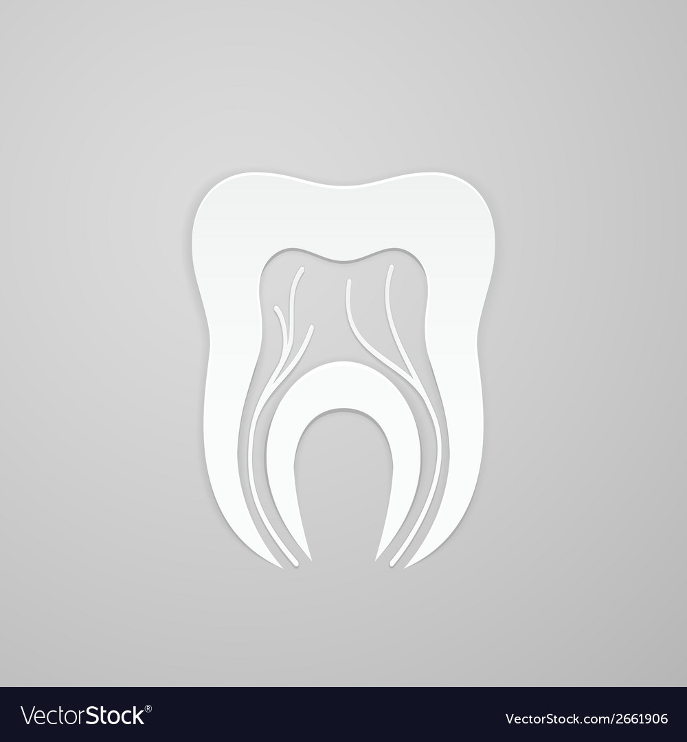 Emblem tooth with channel and vein vector | Price: 1 Credit (USD $1)