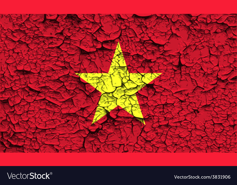 Flag of vietnam with old texture vector | Price: 1 Credit (USD $1)