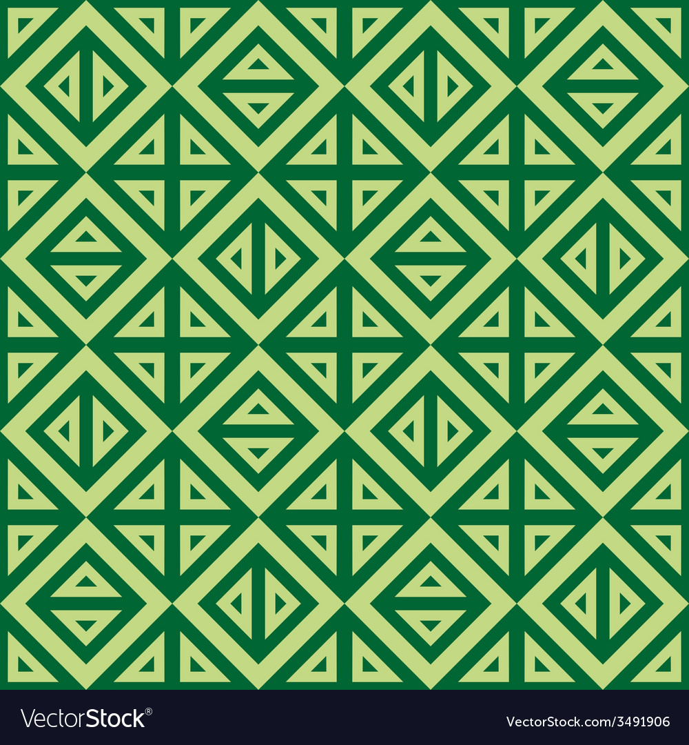 Geometric abstract green pattern seamless vector | Price: 1 Credit (USD $1)