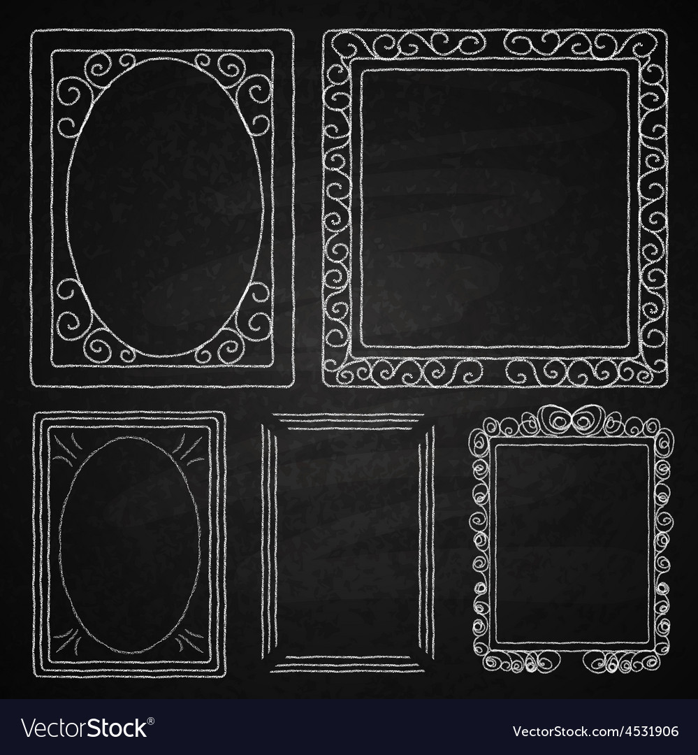 Hand drawn frames vector | Price: 1 Credit (USD $1)