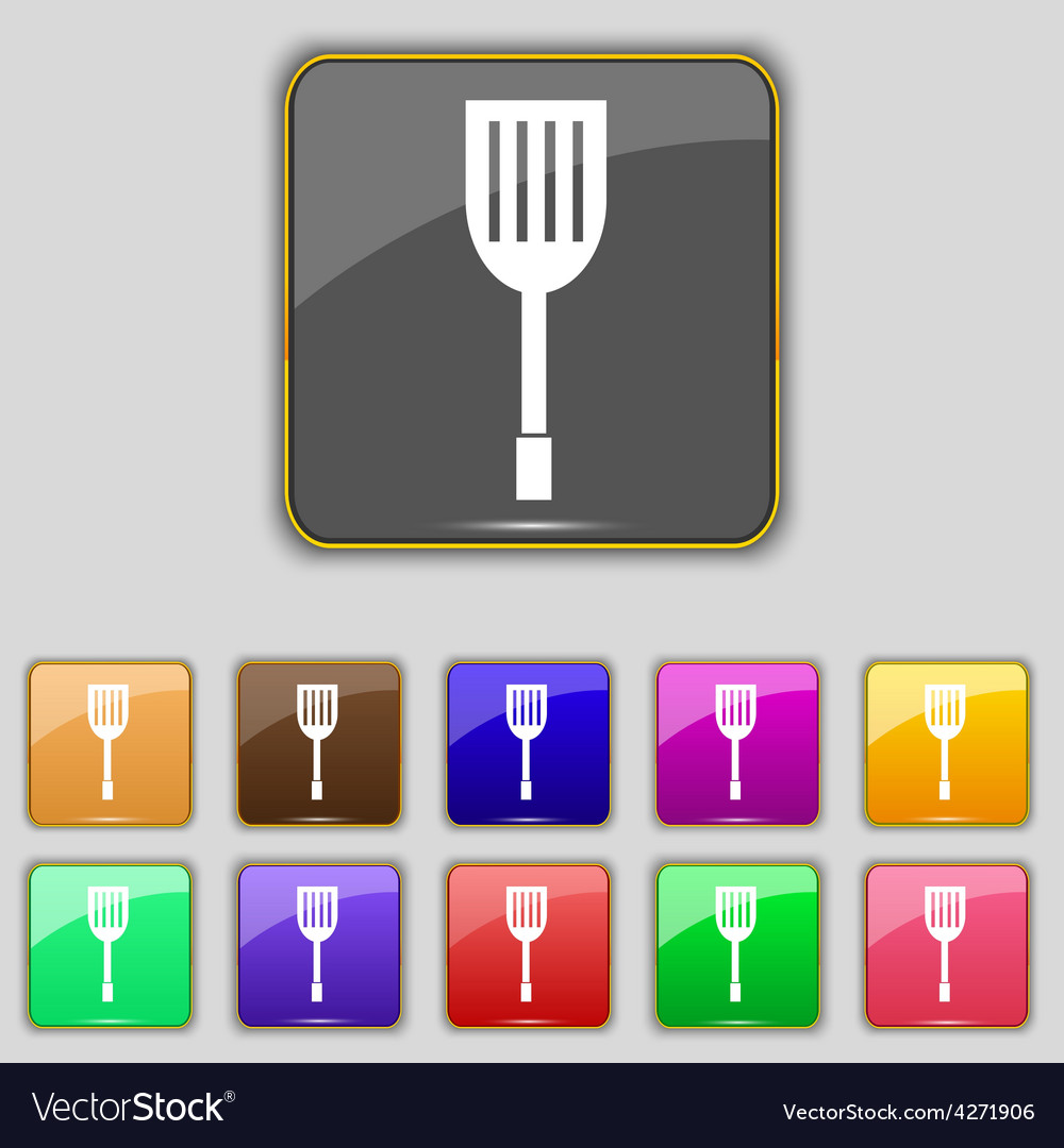 Kitchen appliances icon sign set with eleven vector | Price: 1 Credit (USD $1)