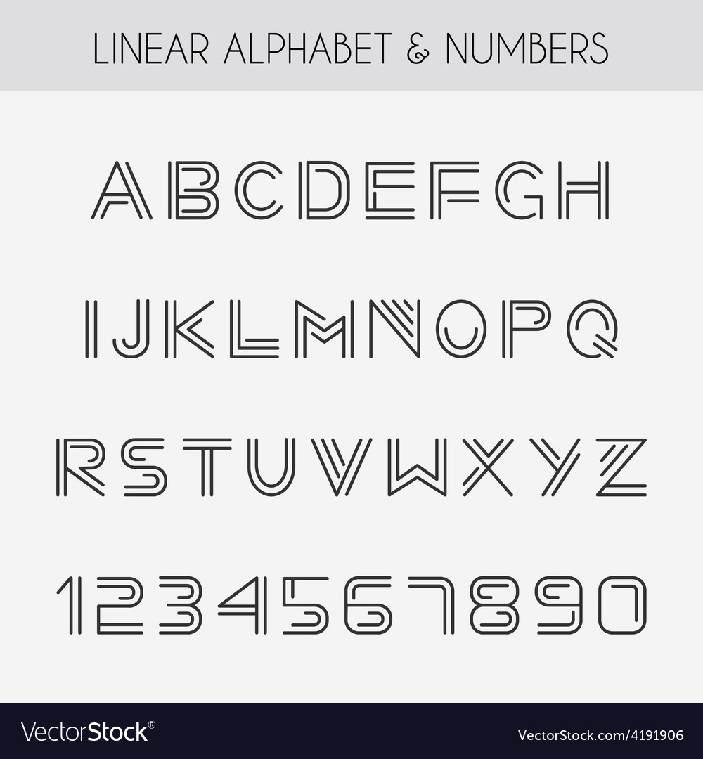 Linear font vector | Price: 1 Credit (USD $1)