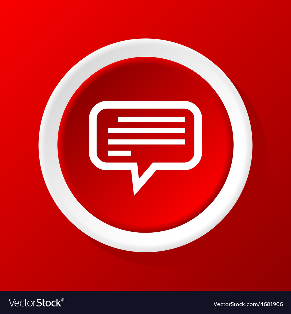 Message icon on red vector | Price: 1 Credit (USD $1)