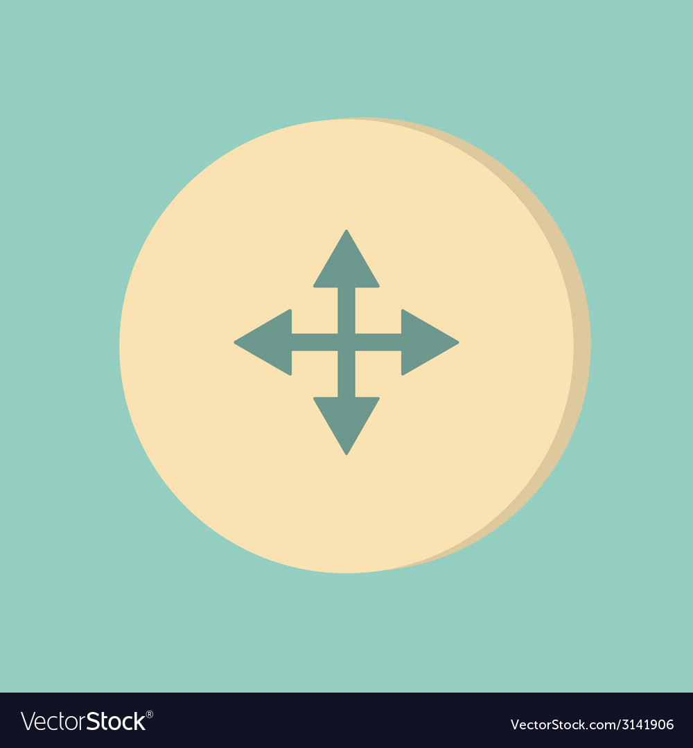 Move arrows vector | Price: 1 Credit (USD $1)