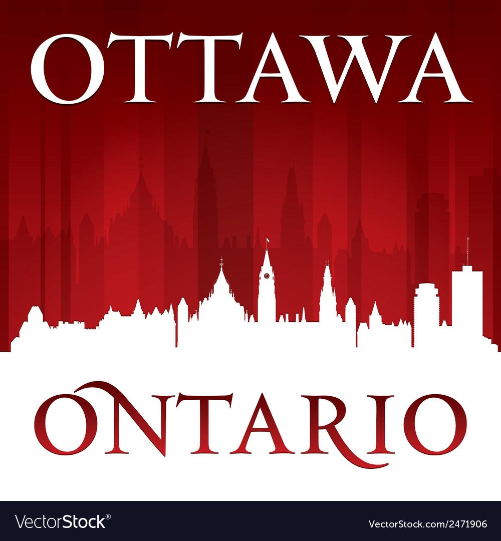 Ottawa ontario canada city skyline silhouette vector | Price: 1 Credit (USD $1)