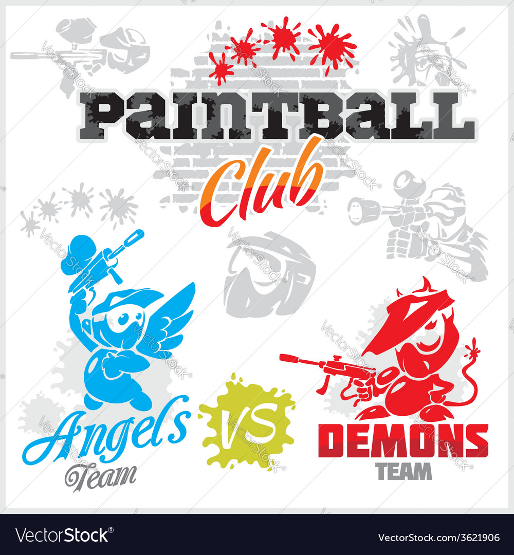 Paintball emblem and logo - set vector | Price: 1 Credit (USD $1)