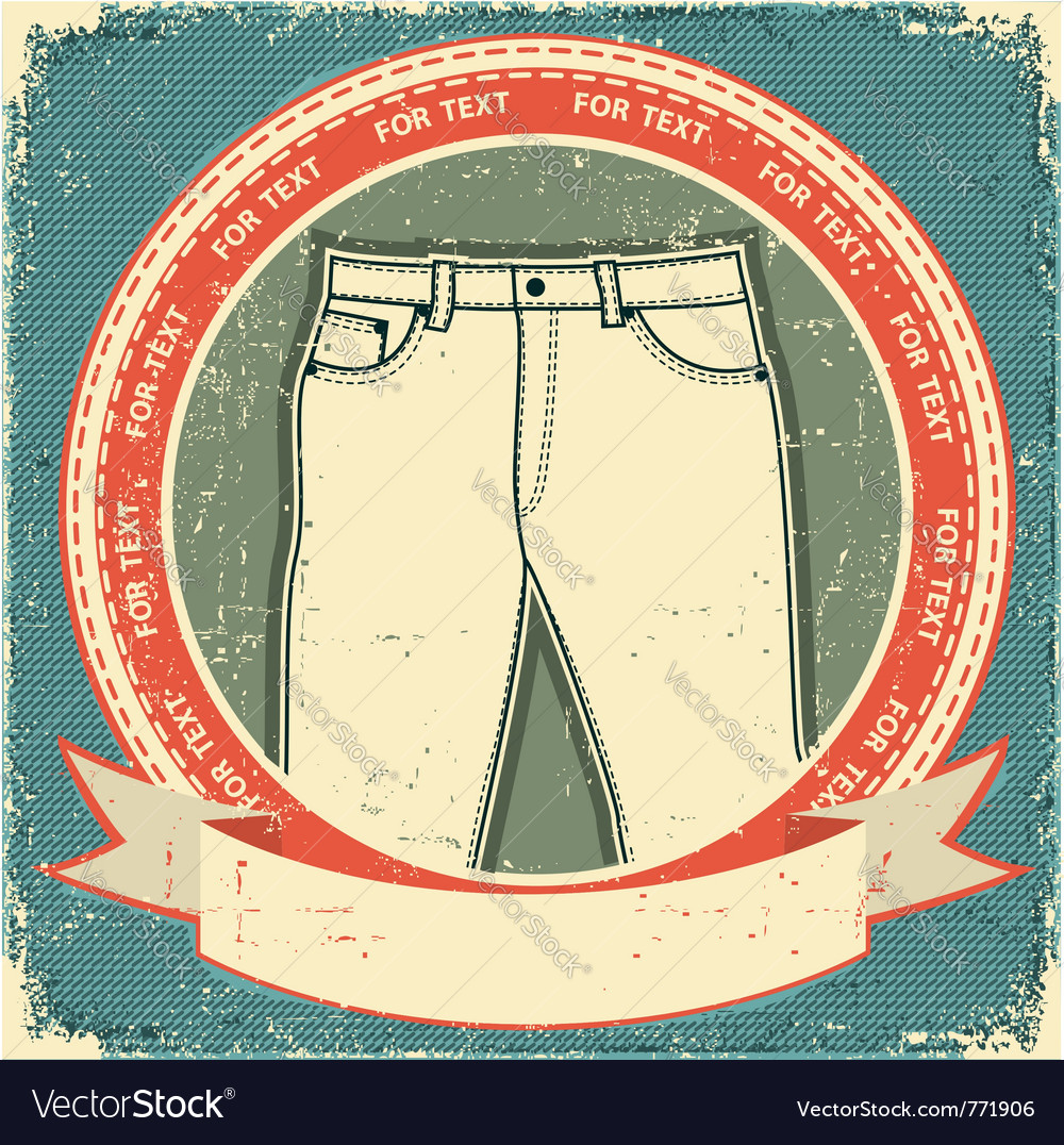 Retro jeans label vector | Price: 1 Credit (USD $1)