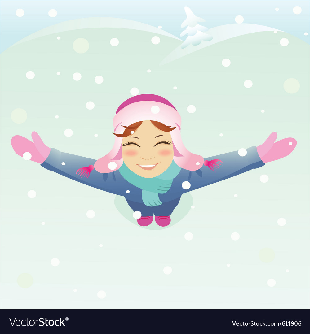 Winter girl vector | Price: 3 Credit (USD $3)