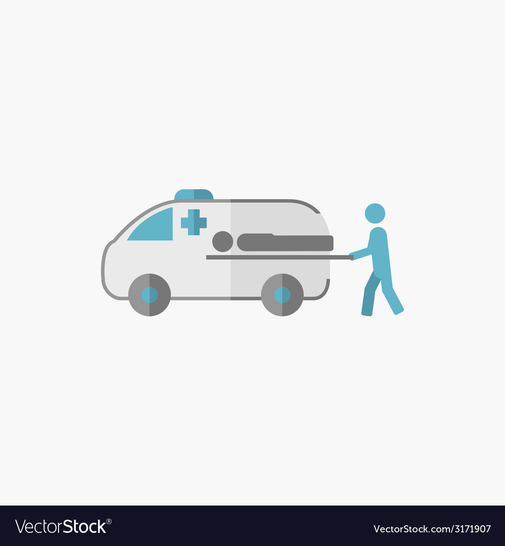 Ambulance flat icon vector | Price: 1 Credit (USD $1)