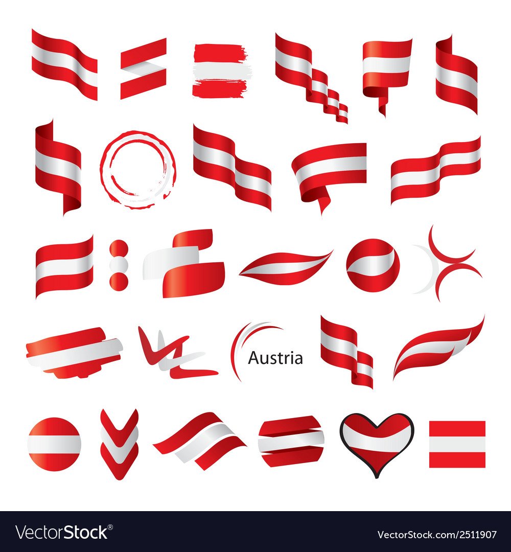 Biggest collection of flag of austria vector | Price: 1 Credit (USD $1)
