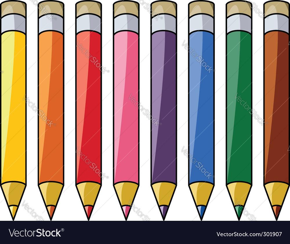 Colorful pencils vector | Price: 1 Credit (USD $1)
