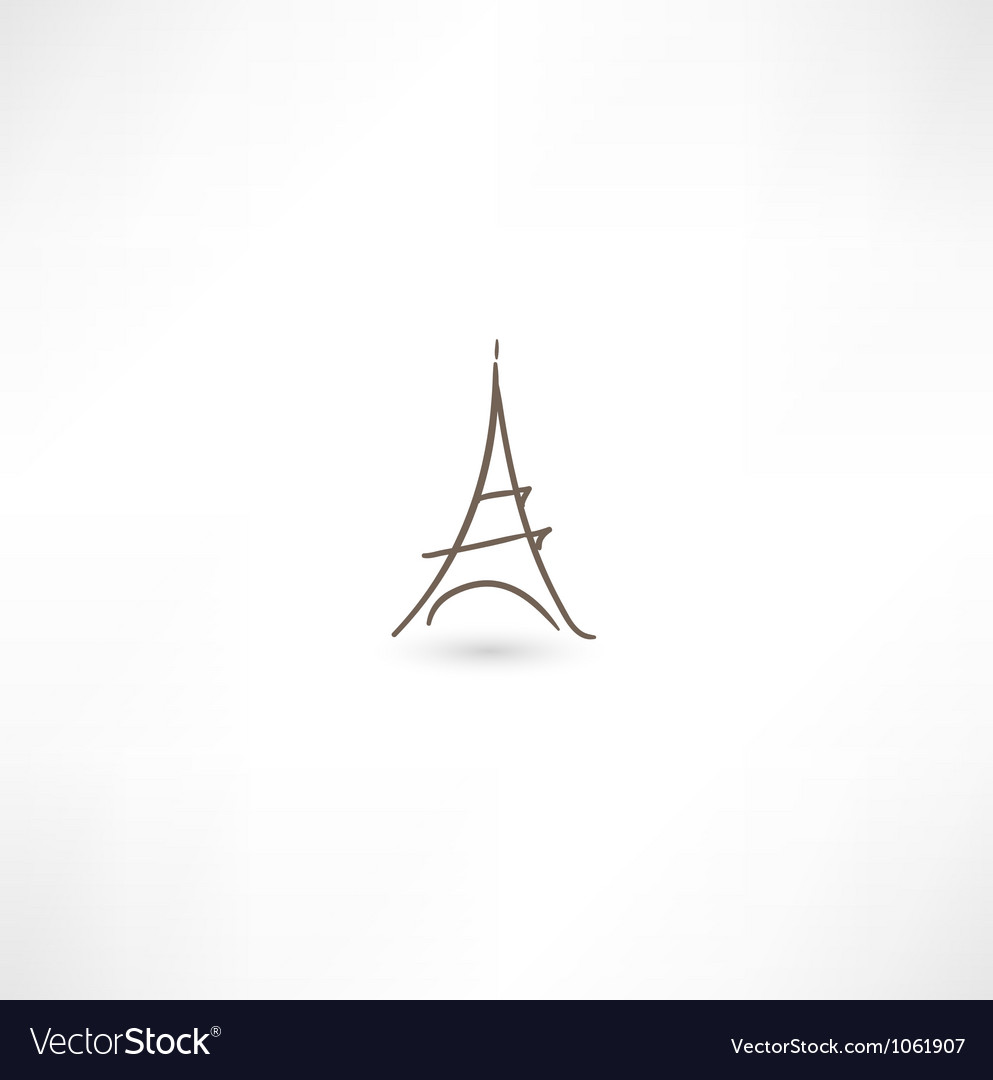 Eiffel tower icon vector | Price: 1 Credit (USD $1)
