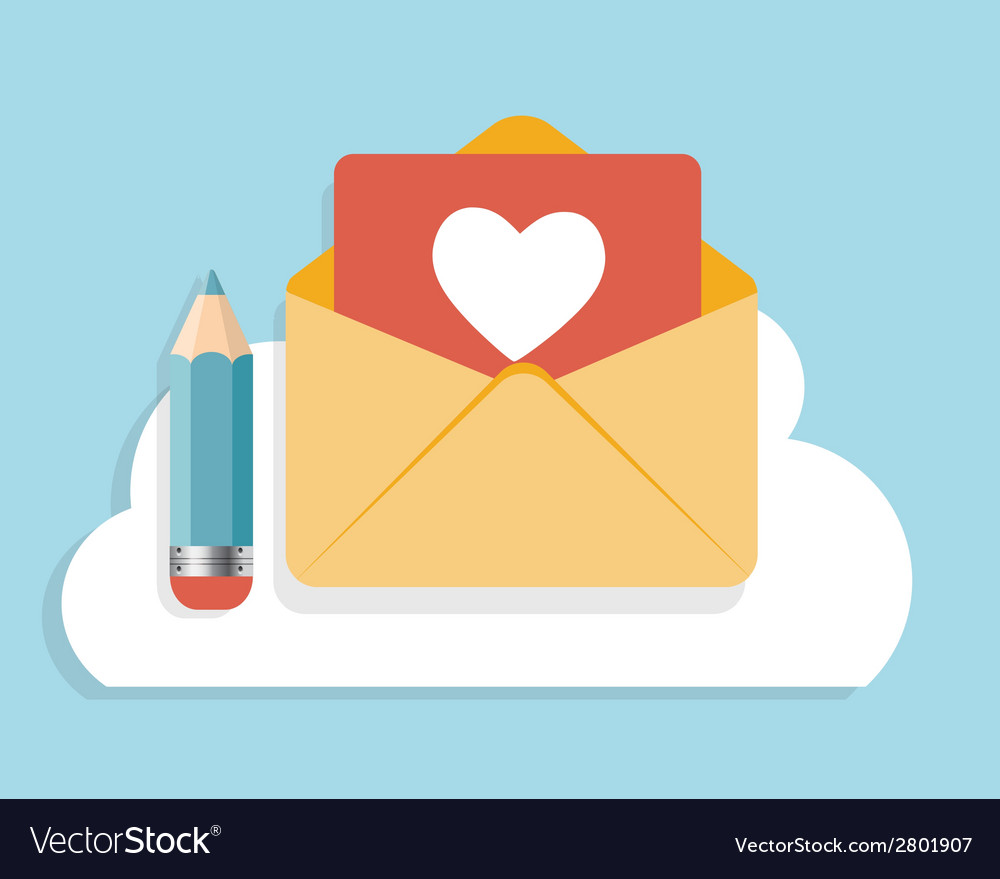 Flat design concept email icon vector   Price: 1 Credit (USD $1)