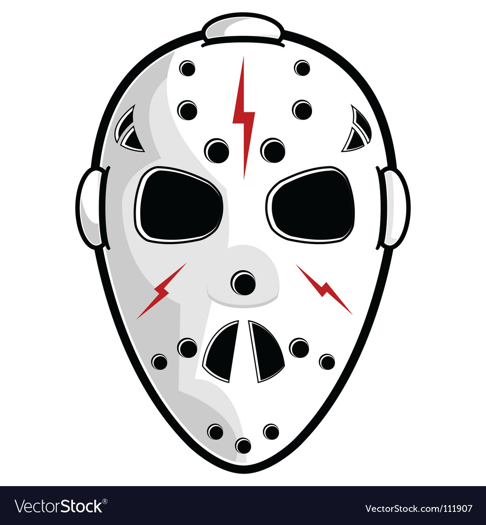 Hockey mask vector | Price: 1 Credit (USD $1)